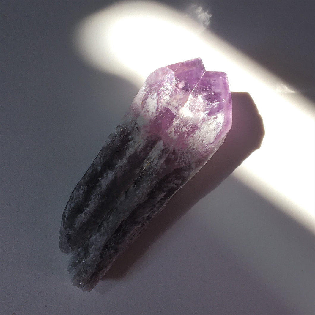 Raw Amethyst Quartz Crystal Point 006 - Dark Crystal Shard!