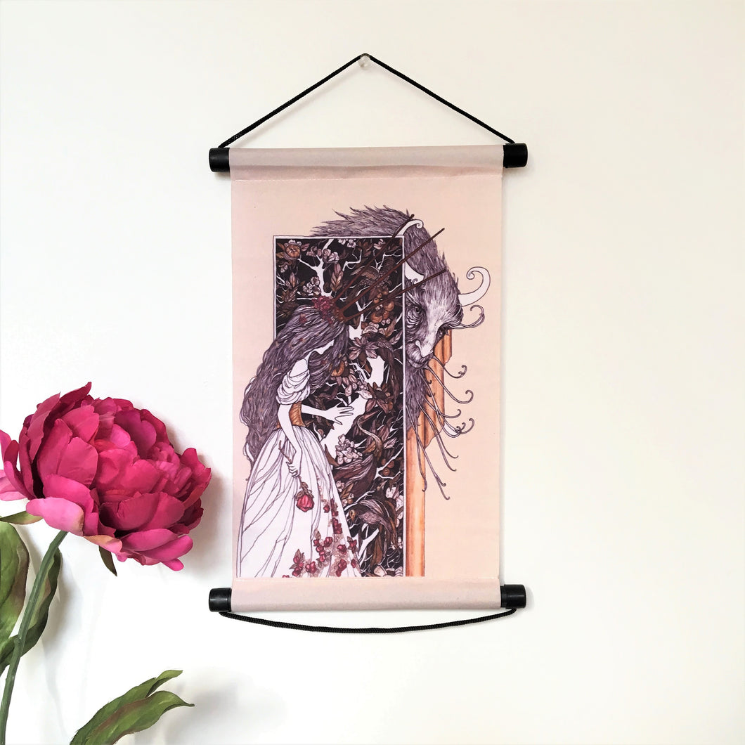 Beauty and the Beast Wall Scroll