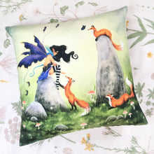 'Faery and Her Foxes' Throw Pillow Case