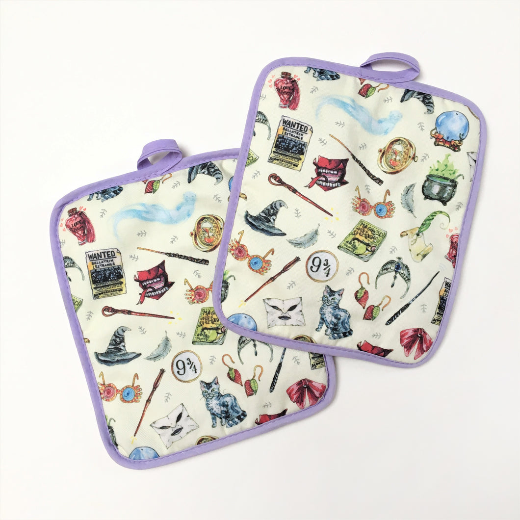 'Ladies of Harry Potter' Pot Holders