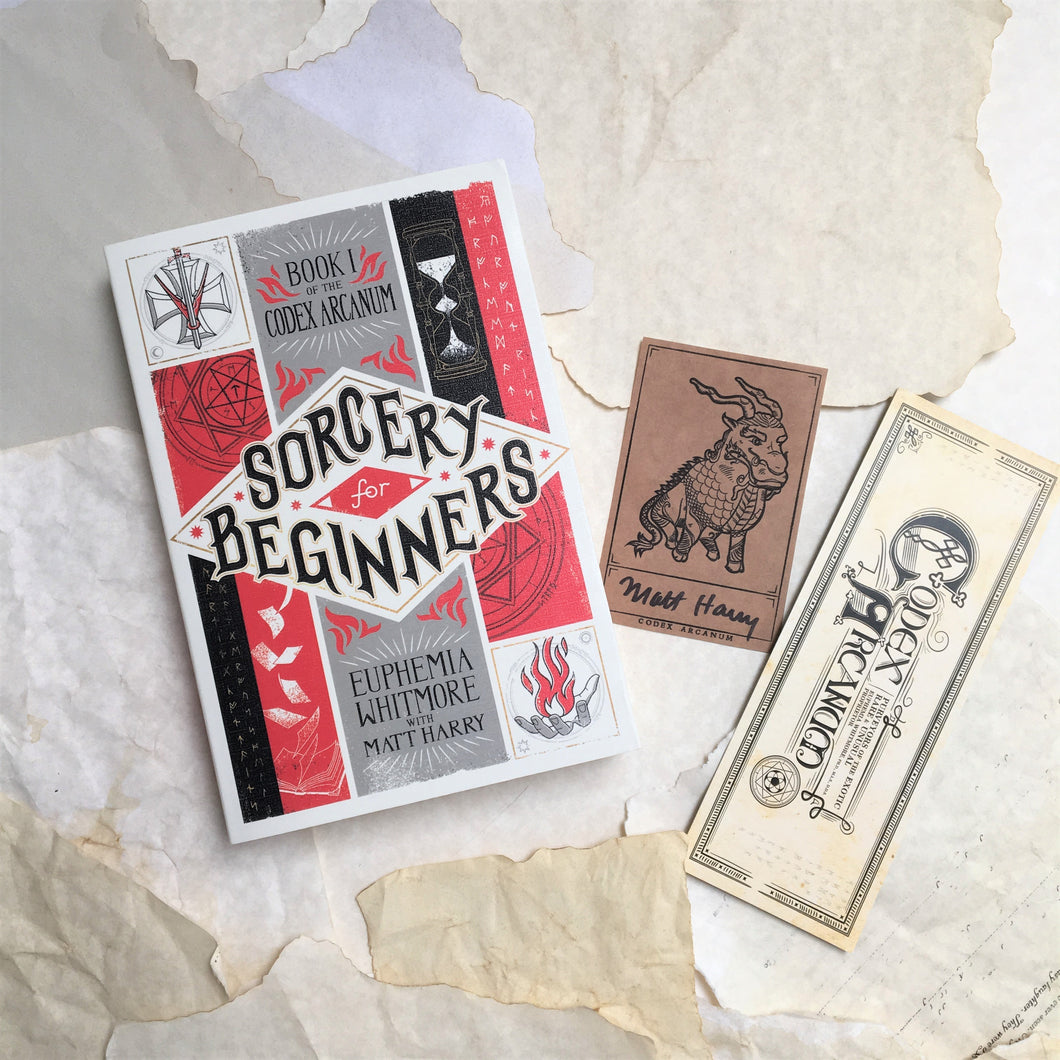 Sorcery for Beginners with Signed Bookplate + Bookmark