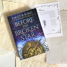 Before the Broken Star with signed bookplate + author note