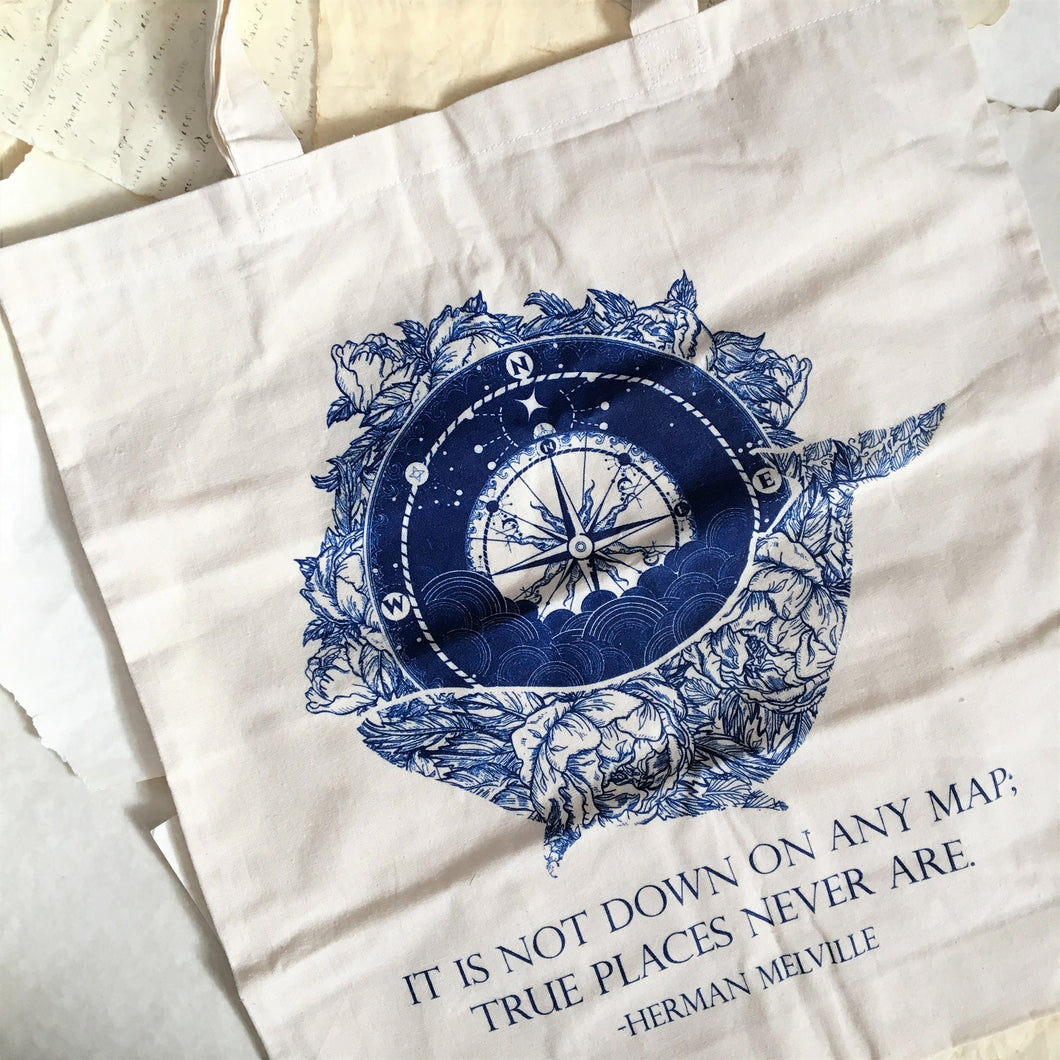 Melville Quote Tote Bag