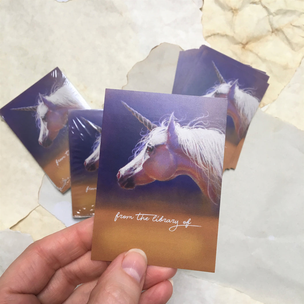 Unicorn Bookplates - Pack of 25