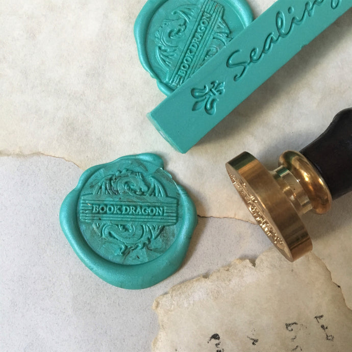 Book Dragon Wax Seal Stamp Kit - with green wax