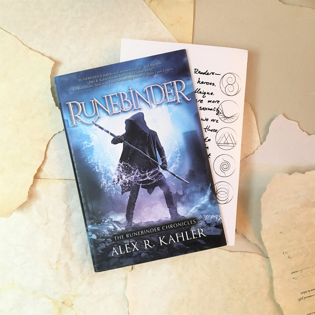 Runebinder with author note