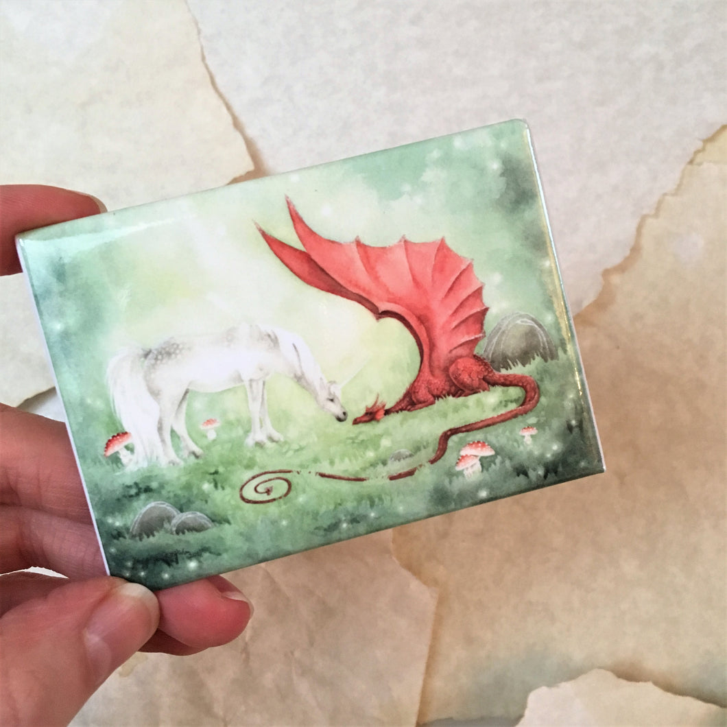 The Unicorn and The Dragon Magnet
