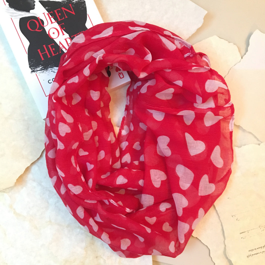 Queen of Hearts Infinity Scarf - SM