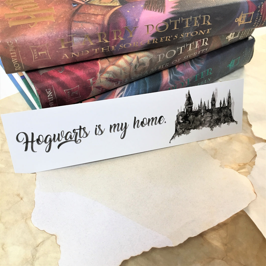 Hogwarts is My Home bookmark
