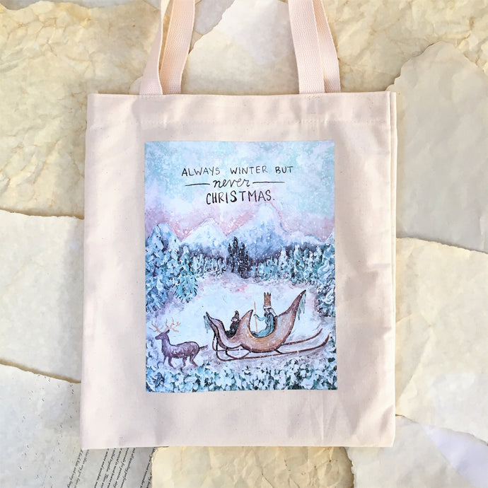 Winter in Narnia Tote Bag