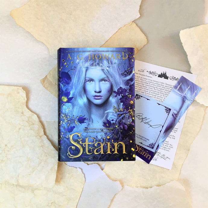 STAIN with author note, signed bookplate and bookmark