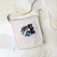 'Belladonna' - Small Canvas Messenger Bag