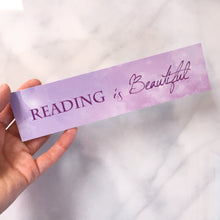 Reading is Beautiful bookmark