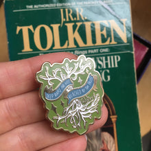 """Deep Roots"" Tolkien Quote Enamel Pin"