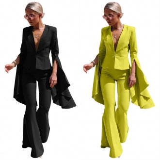 OVERKILL HI LOW SLEEVE TWO PIECE SUIT