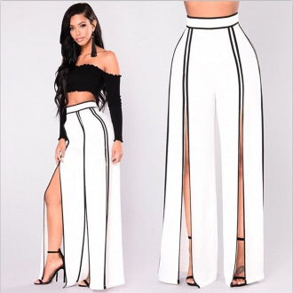 EMPRESS SLIT WIDE LEG PANTS