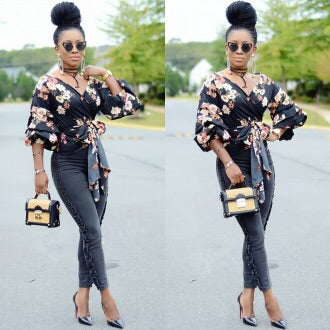 FLOWER BOMB BLOUSE