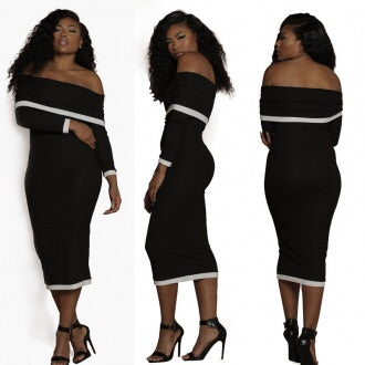 VENUS OFF SHOULDER BODY DRESS