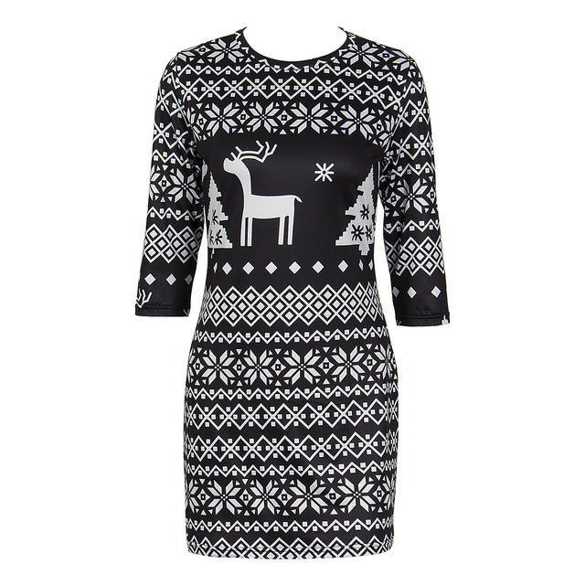 CHRISTMAS SWEATER DRESS