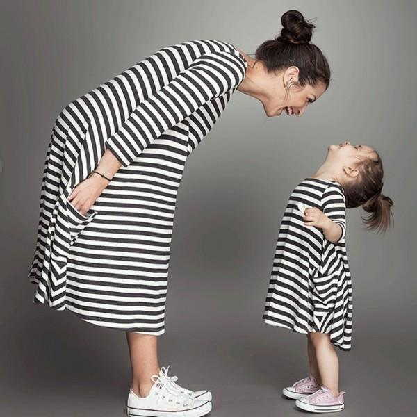 Dorian Striped Mommy & Me Dress