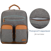 Baby Envy Diaper Backpack with Leather Detail