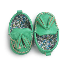 Leather Moccasin Crib Shoes for Baby