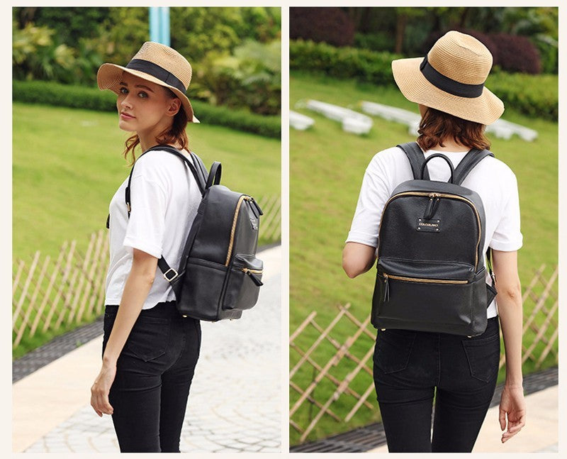 Baby Chic Leather Backpack
