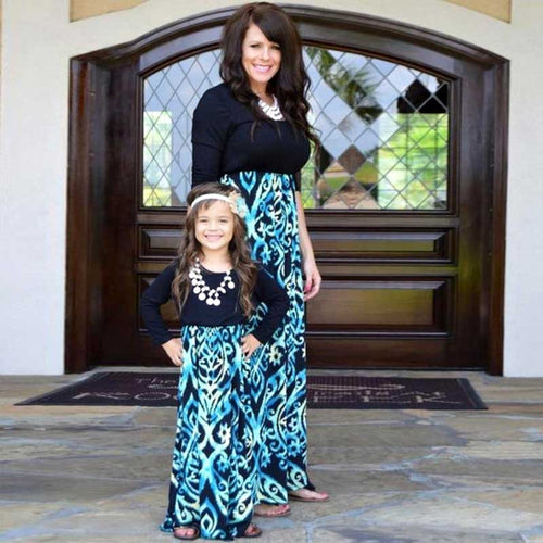 Pretty in Azure Mommy & Me Maxi Dress