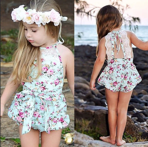 Rose Floral Rompers for Toddlers