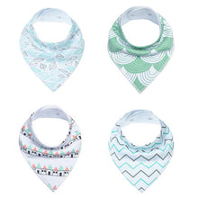 Baby Bandana Drool Bibs for Drooling and Teething 4 Pack Gift Set Unisex