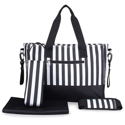 Striped Diaper Bag w/ Accessories