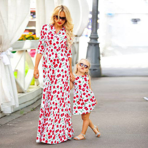 Cherry Motif Mommy & Me Dress