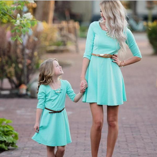 Perfect Match Mommy & Me Dress in Light Blue