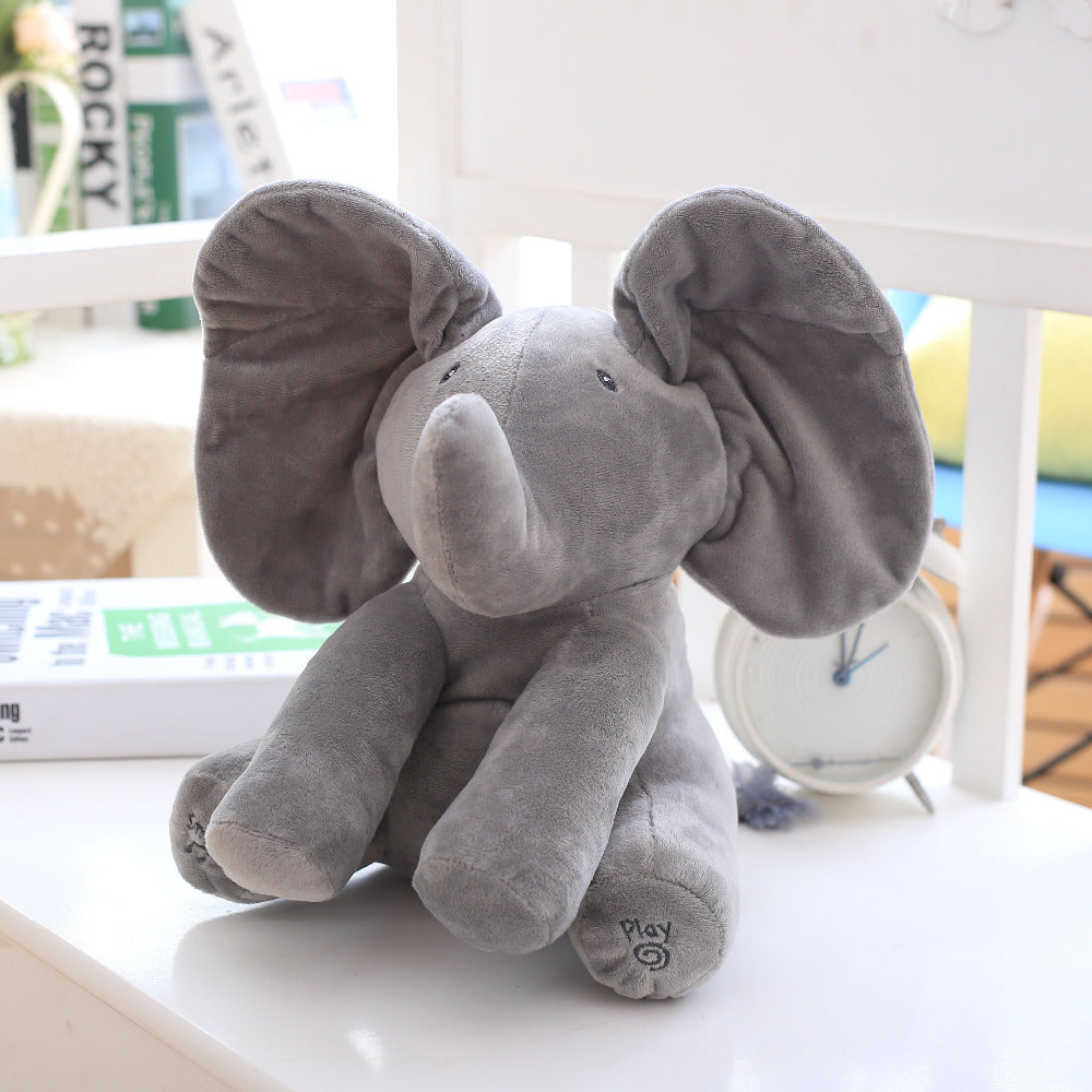 Peek-A-Boo Elephant Plush Doll for baby