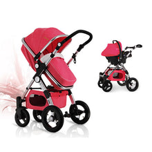 3-in-1 Convertible Stroller with Bassinet & Toddler Seat