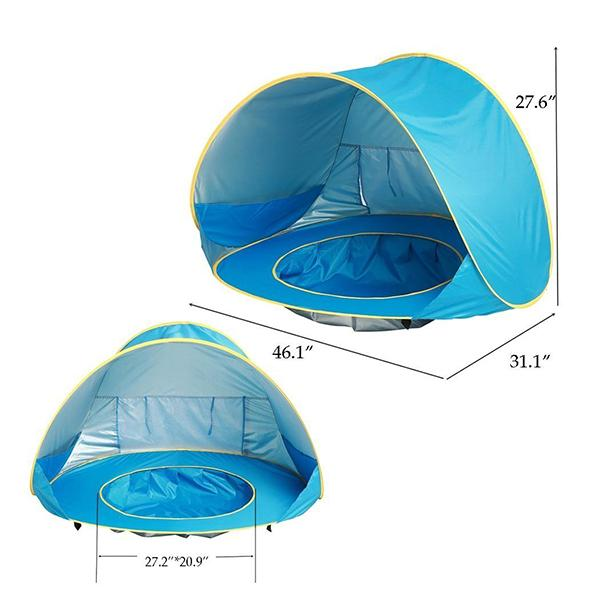 Baby Beach Tent with Mini Pool – Pretty Smarty