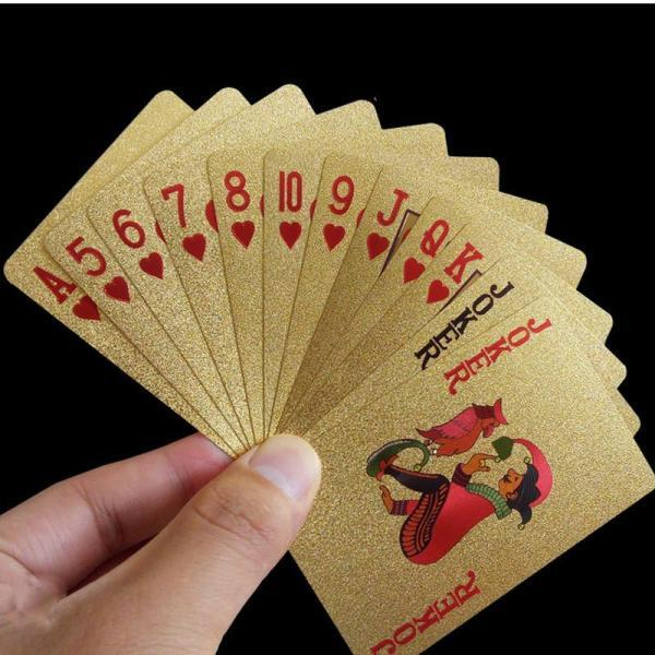 24K Gold Luxury Playing Cards