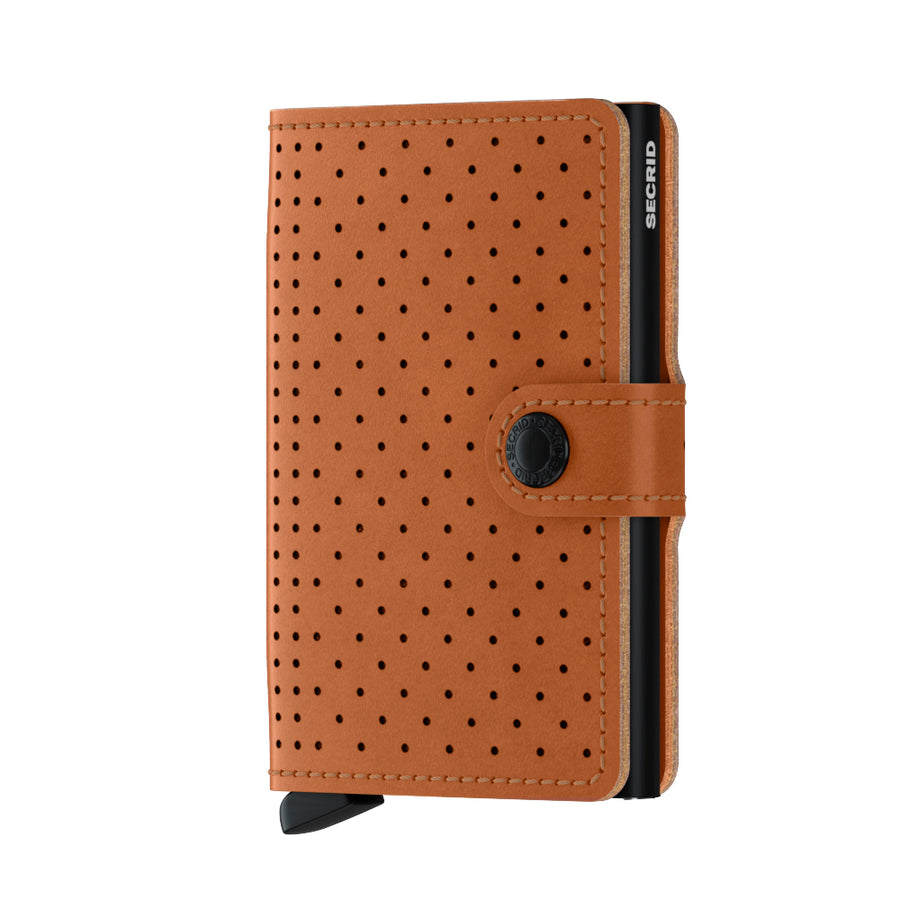 Secrid_Miniwallet_Perforated_Cognac_Front_Cards