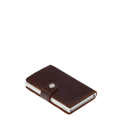 """SECRID"" - Miniwallet Dark Brown"