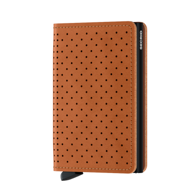 SECRID_SLIMWALLET_PERFORATED_COGNAC_FRONT