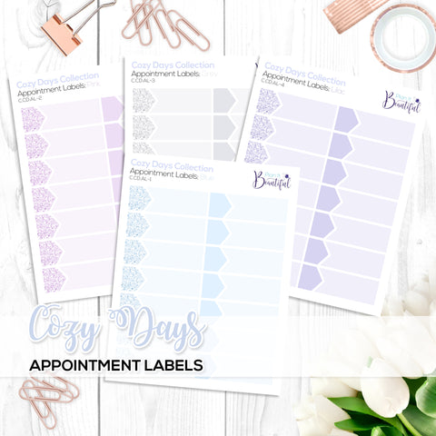 Cozy Days Collection: Appointment Labels