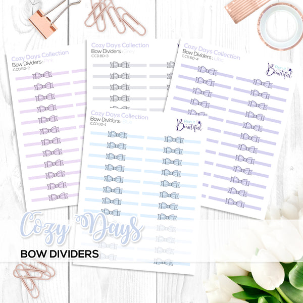 Cozy Days Collection: Bow Dividers