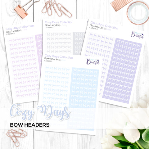 Cozy Days Collection: Bow Headers