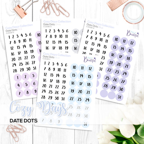 Cozy Days Collection: Date Dots