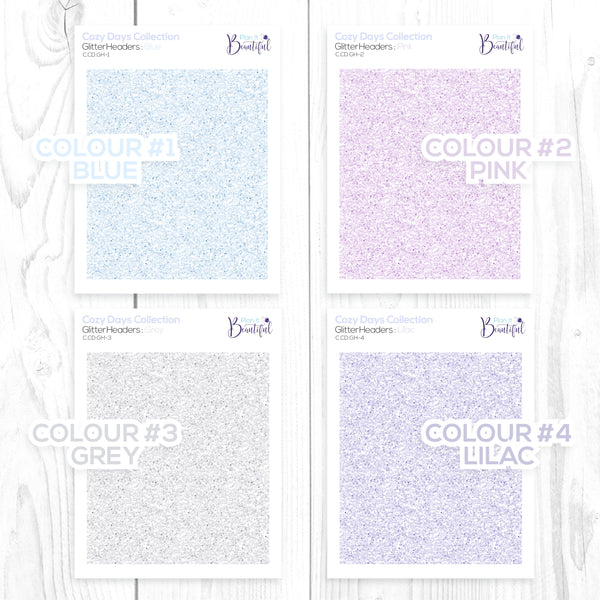 Cozy Days Collection: Glitter Headers