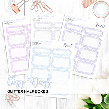 Cozy Days Collection: Glitter Half Boxes