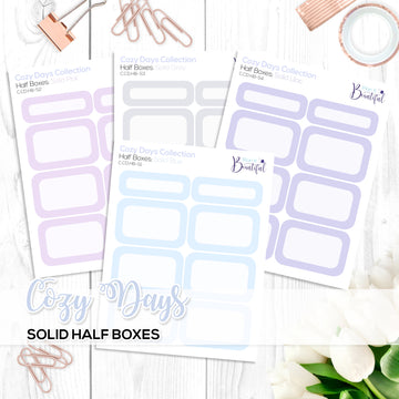Cozy Days Collection: Solid Colour Half Boxes