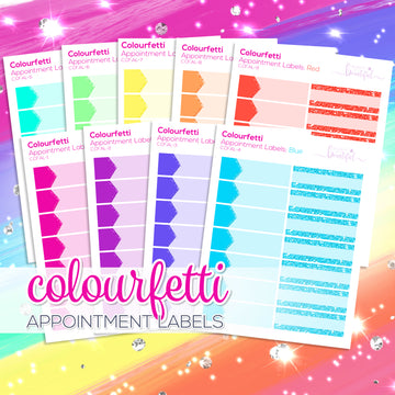 Colourfetti Collection: Appointment Labels