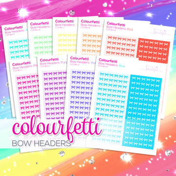 Colourfetti Collection: Bow Headers