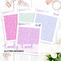 Candy Land Collection: Glitter Headers